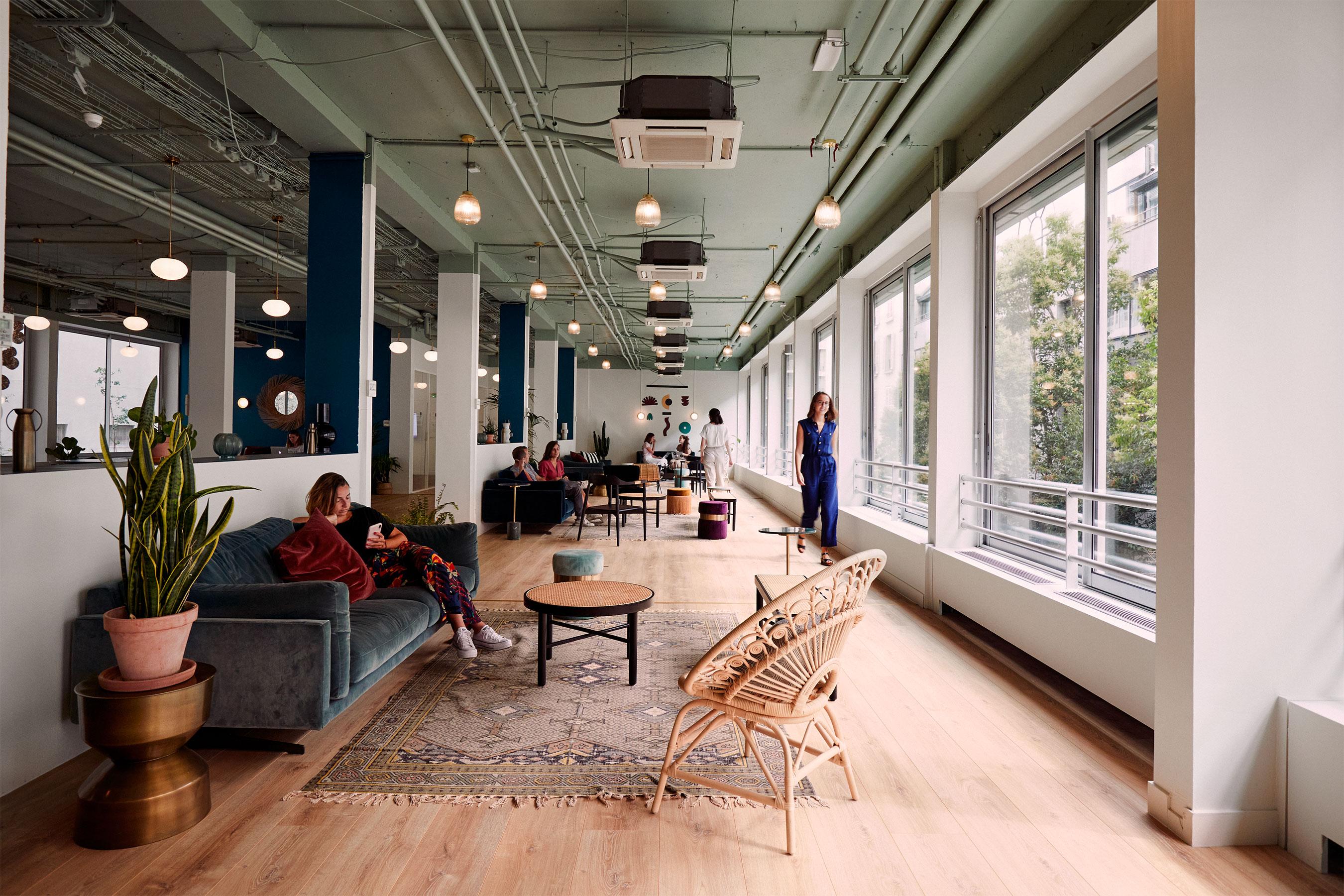 coworking levallois - espace commun