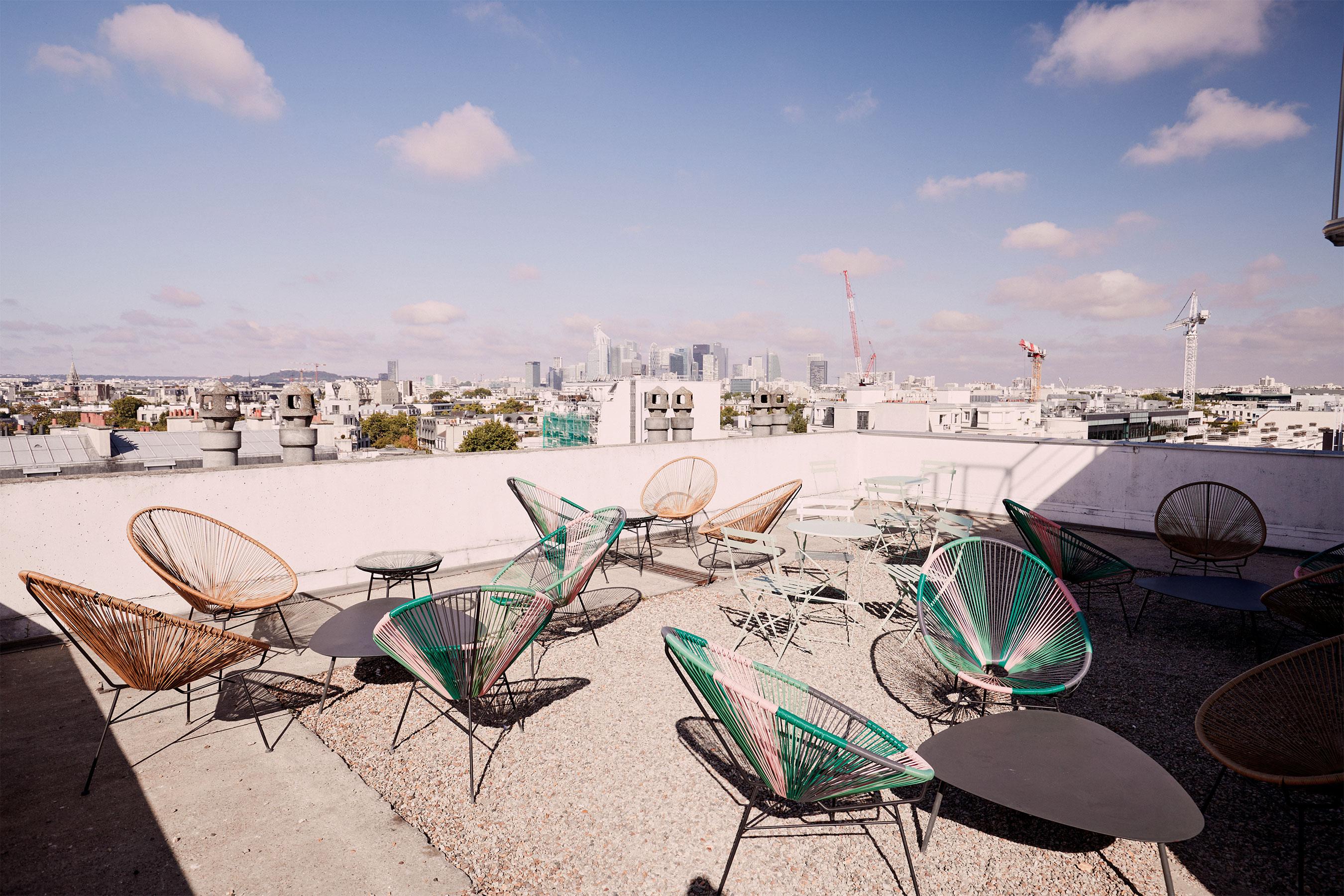 coworking levallois - terrasse