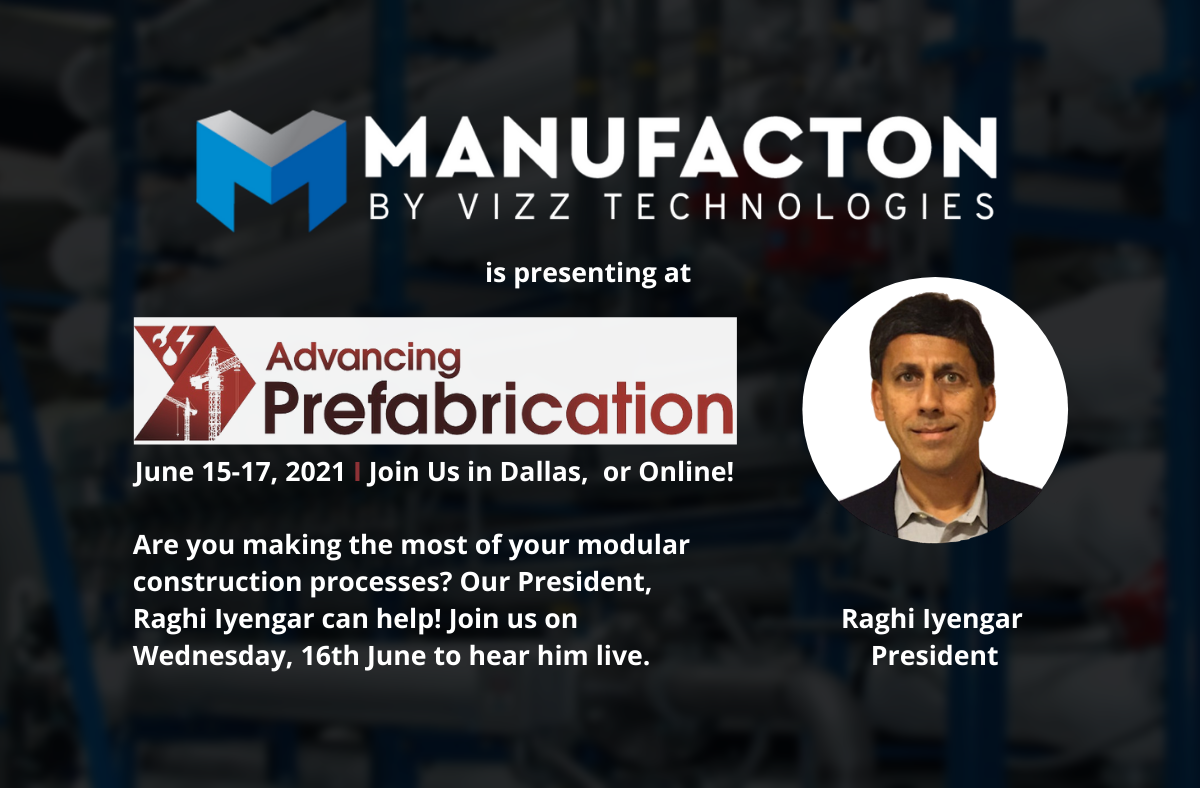Manufacton presenting at  Advancing Prefabrication 2021