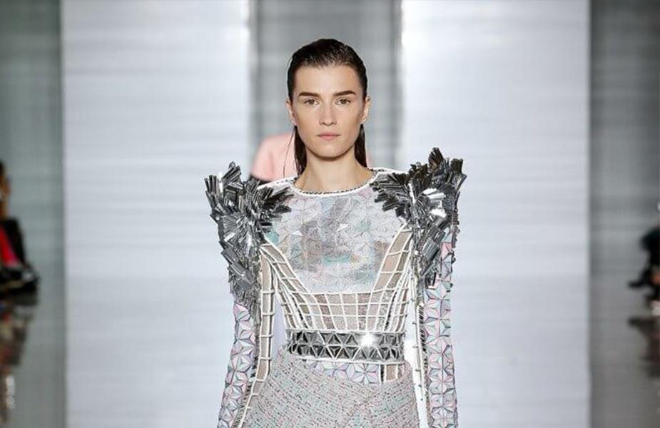 Irina Duranovic Leaded the Defile at the Balmain Fashion Show