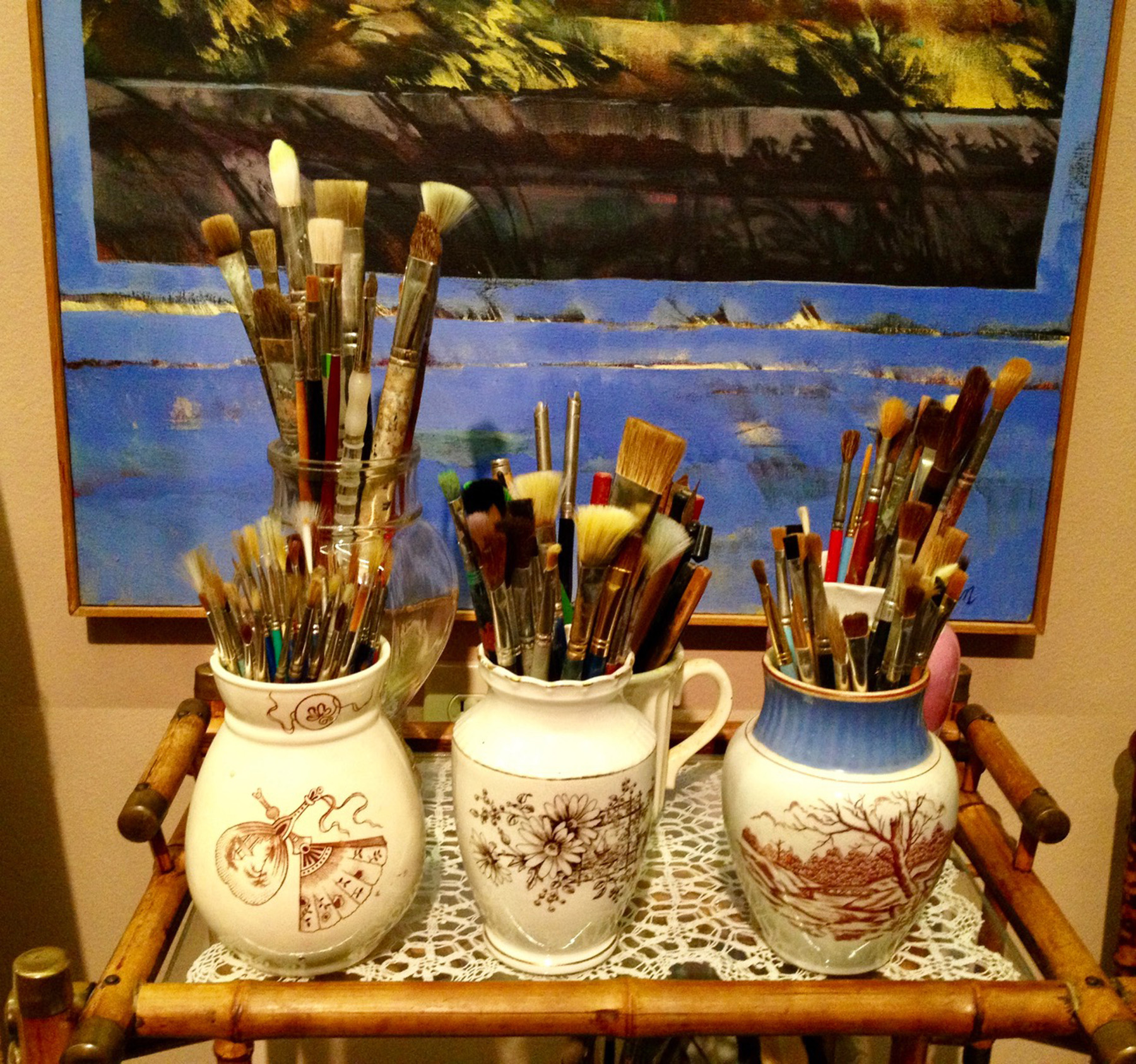 BRUSHES AND CANVAS