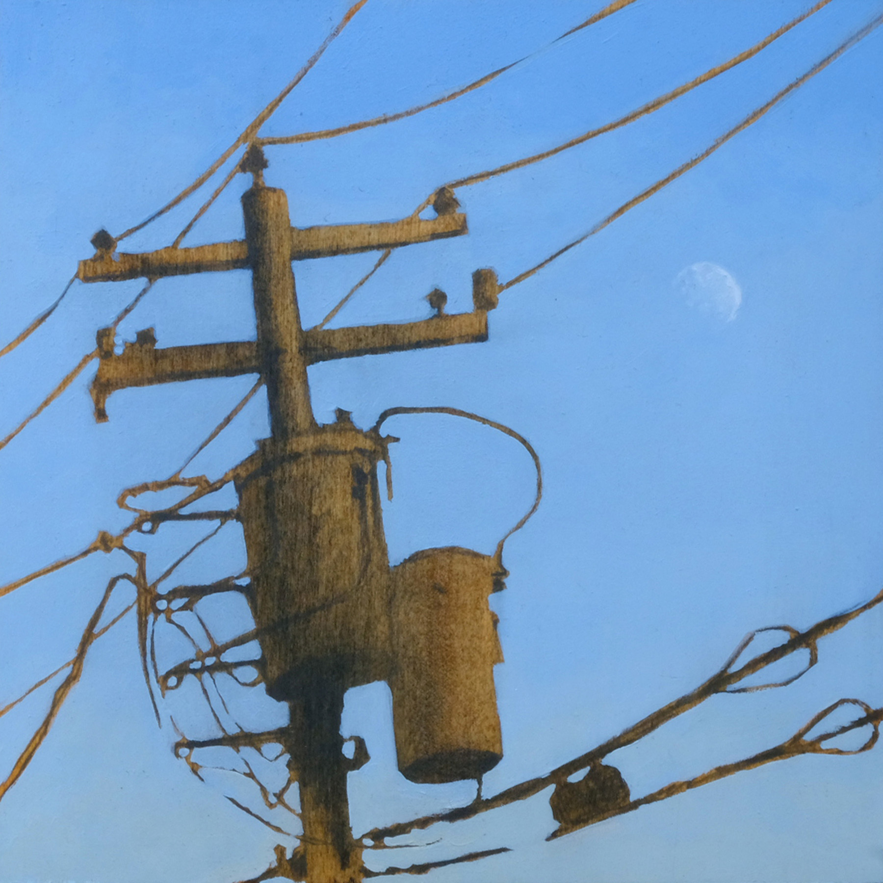Wired in front of the Moon