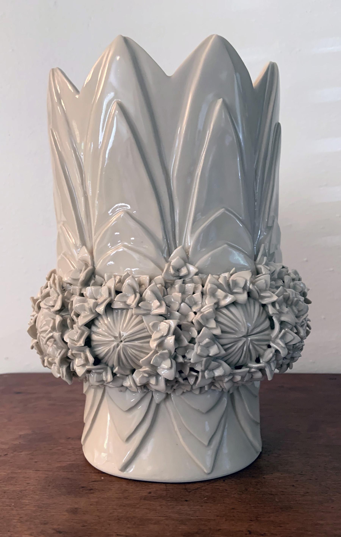 Cornflowers and petals vase
