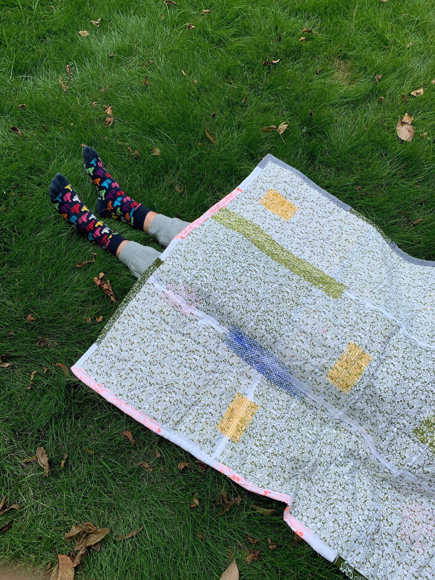 urban camouflage quilt