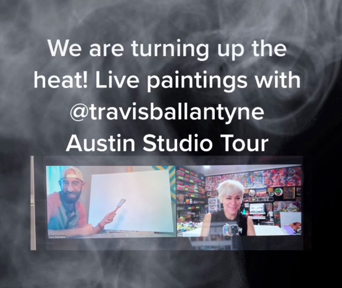 Collaborative Live Painting with Travis Ballantyne