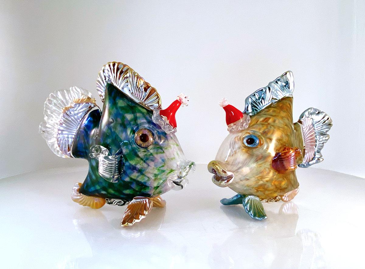 Live Hot Glass Santa Fish Demonstration