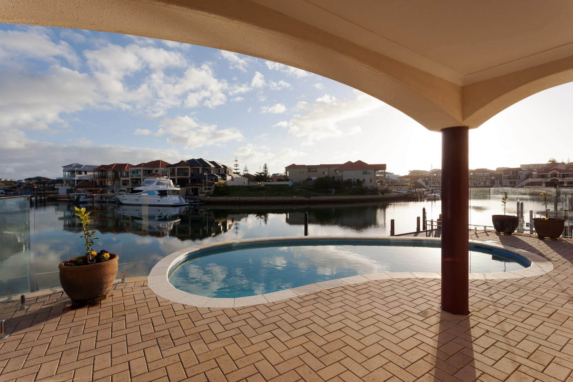 Pool and view of harbour