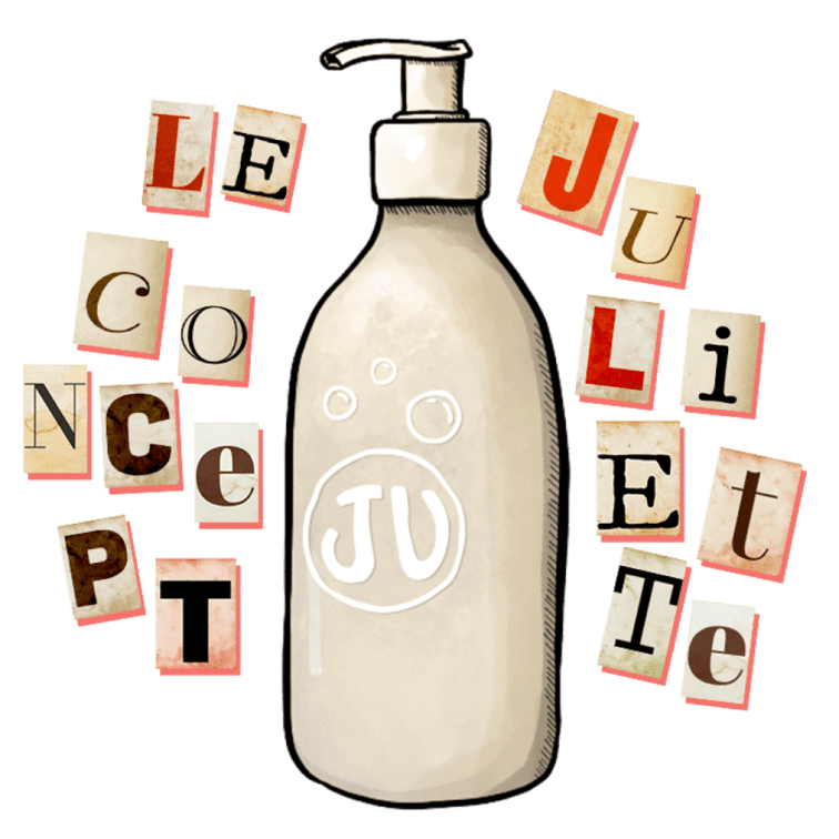 Concept du gel douche ecologique Juliette