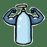 Bouteille en verre securise