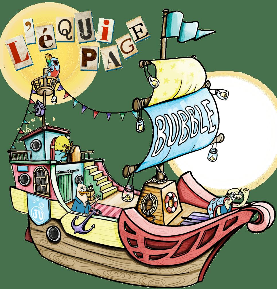 Le Bubble bateau de l'equipe Juliette