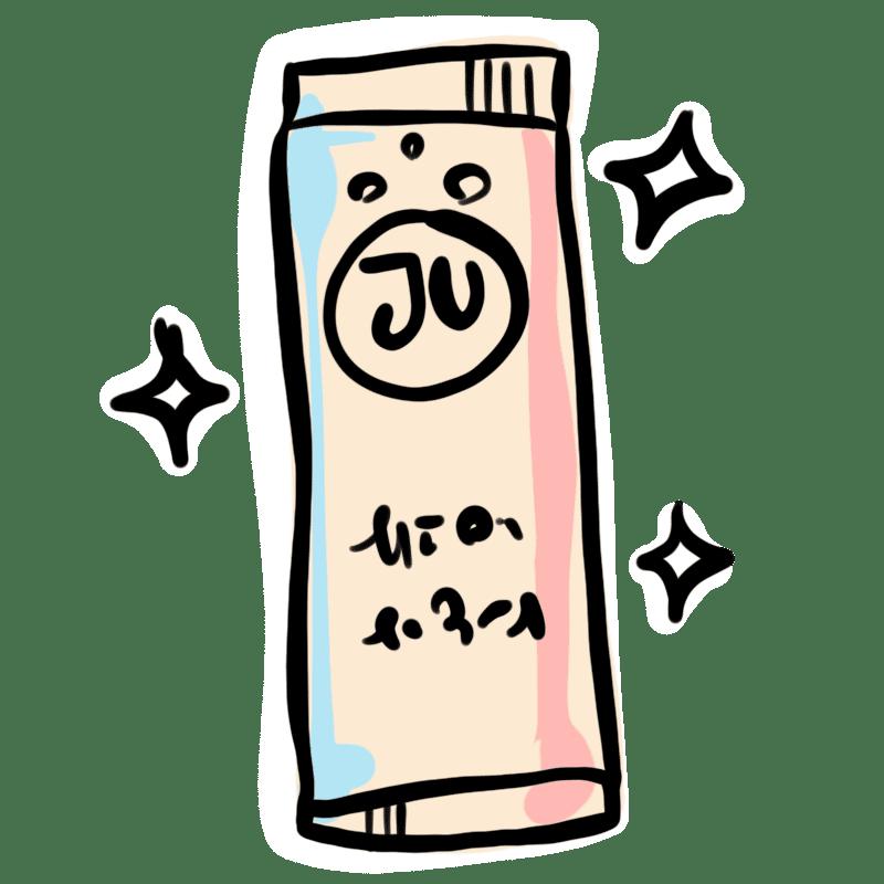 Stick poudre papier gel douche JU