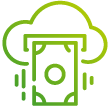 soar icon gradient green cloud and money