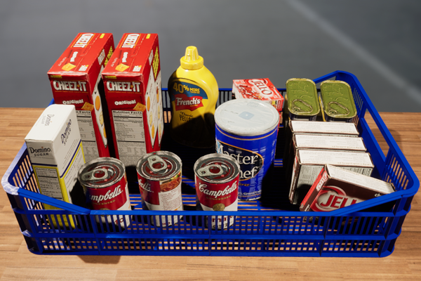 RGB image of grocery items in a bin