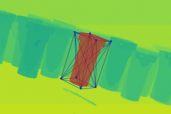 6D pose annotation for image of parts in a manufacturing facility