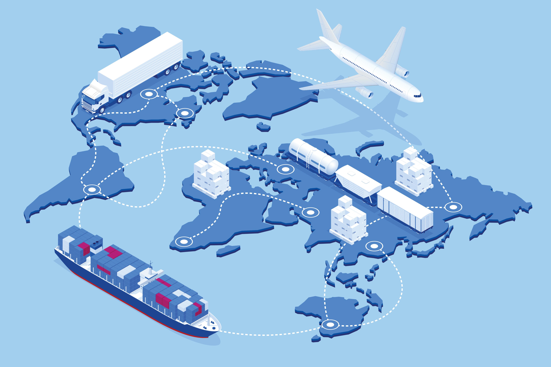Logistics Map of the world
