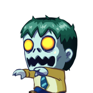 Zombie from Monster Dash walk's menacingly