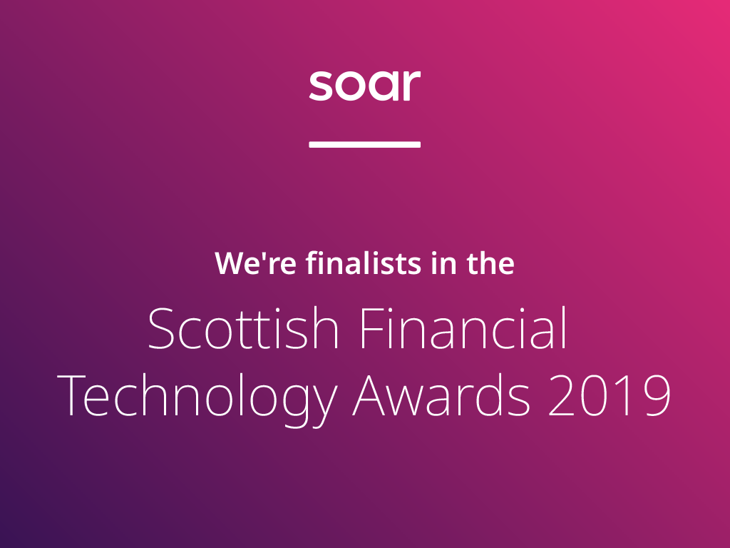 We're finalists in the Scottish Financial Technology Awards