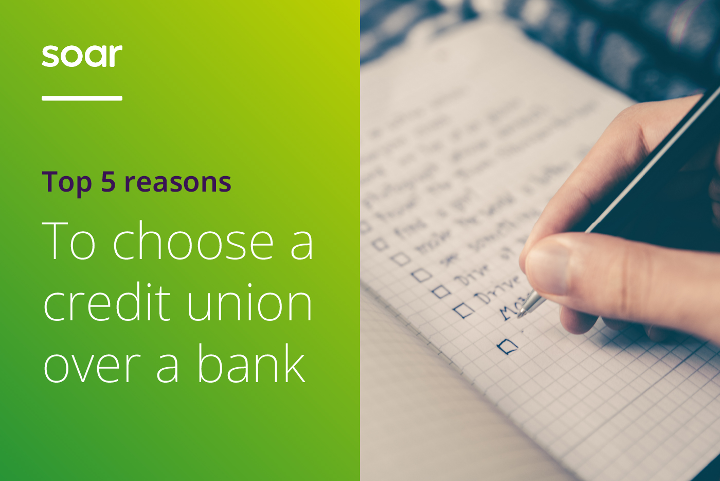 Top 5 reasons to choose a credit union over a bank