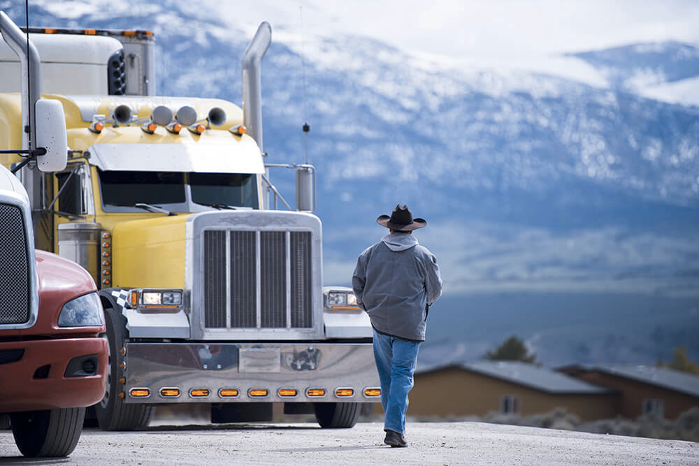 Trucker with truck looking for truck dispatch services