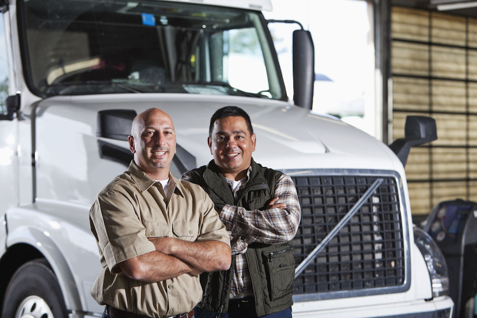 two freight dispatch employees