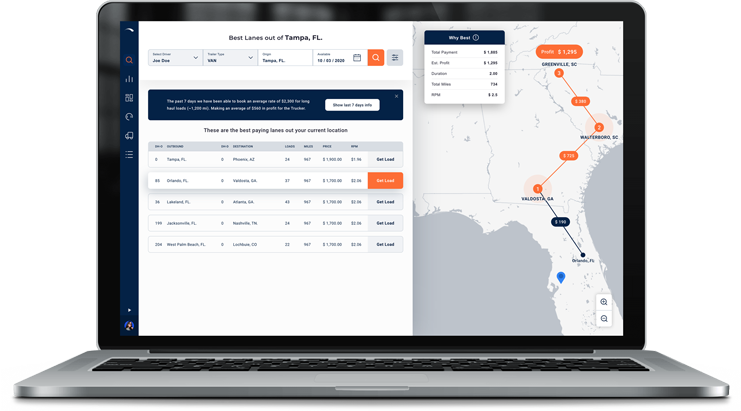 freight dispatch services booking loads system