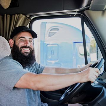 Image of stress-free trucker