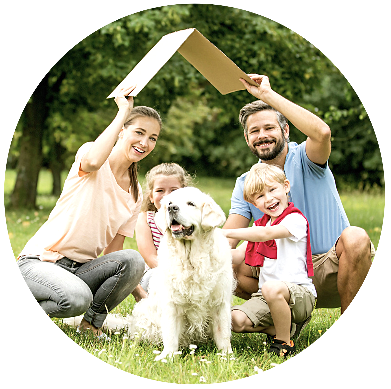 Happy family secured with a good financial plan