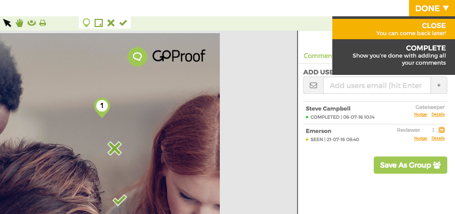 GoProof Done Proofing Software Collaboration Reviewer