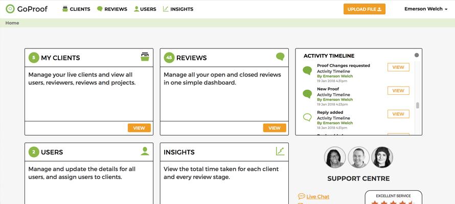 activity-timeline-goproof-web-app