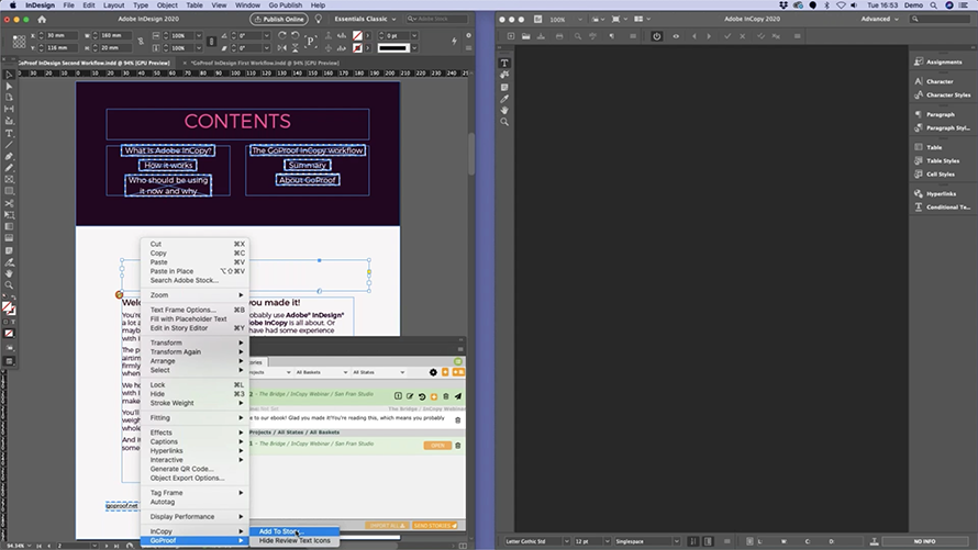 Watch the Adobe InCopy and InDesign webinar 2020 to hear a few post-demo questions