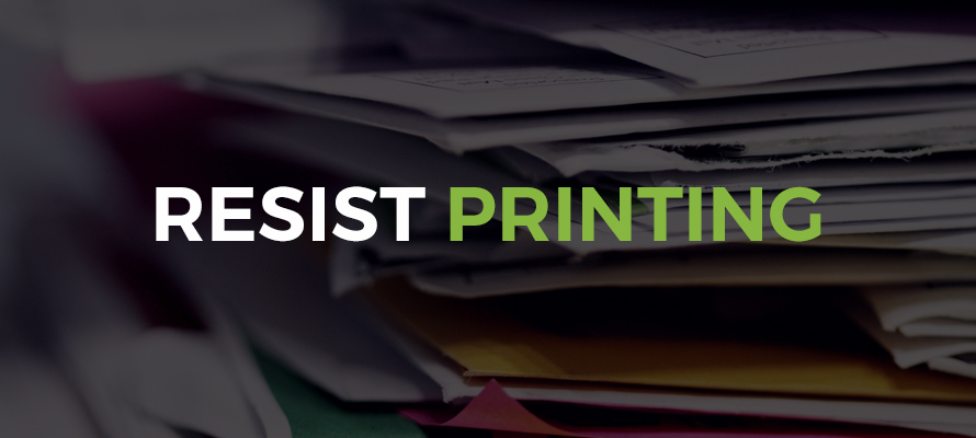 Proofing from home - Resist printing