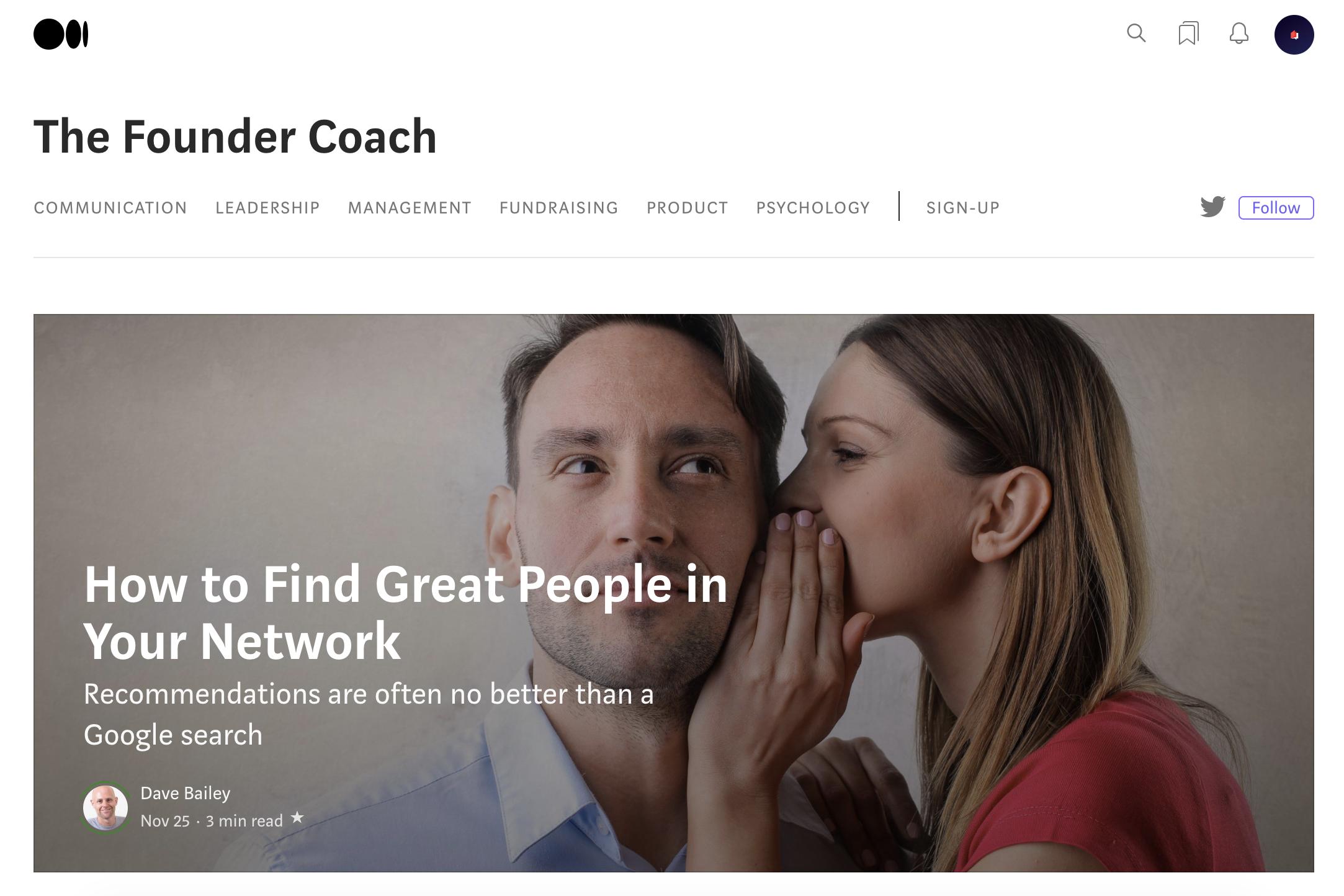Entrepreneur blogs #27: The Founder Coach