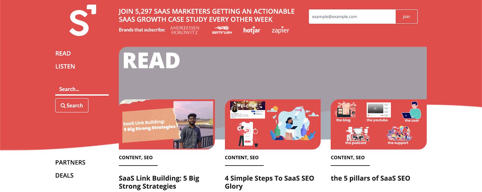 Blogs for entrepreneurs #23: SaaS Marketer Blog