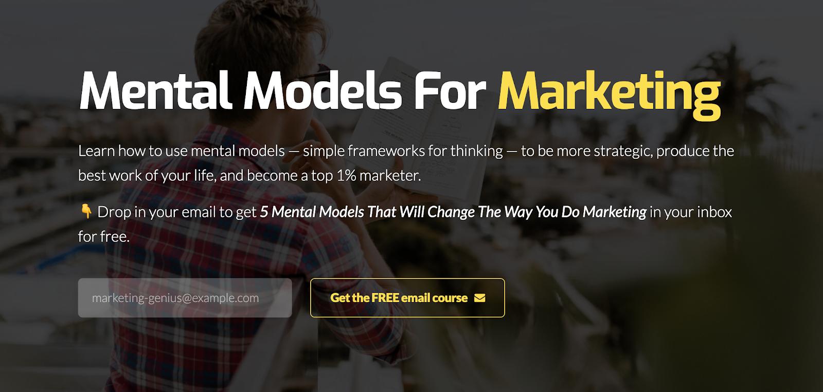 Entrepreneur online courses #11: Mental Models For Marketing