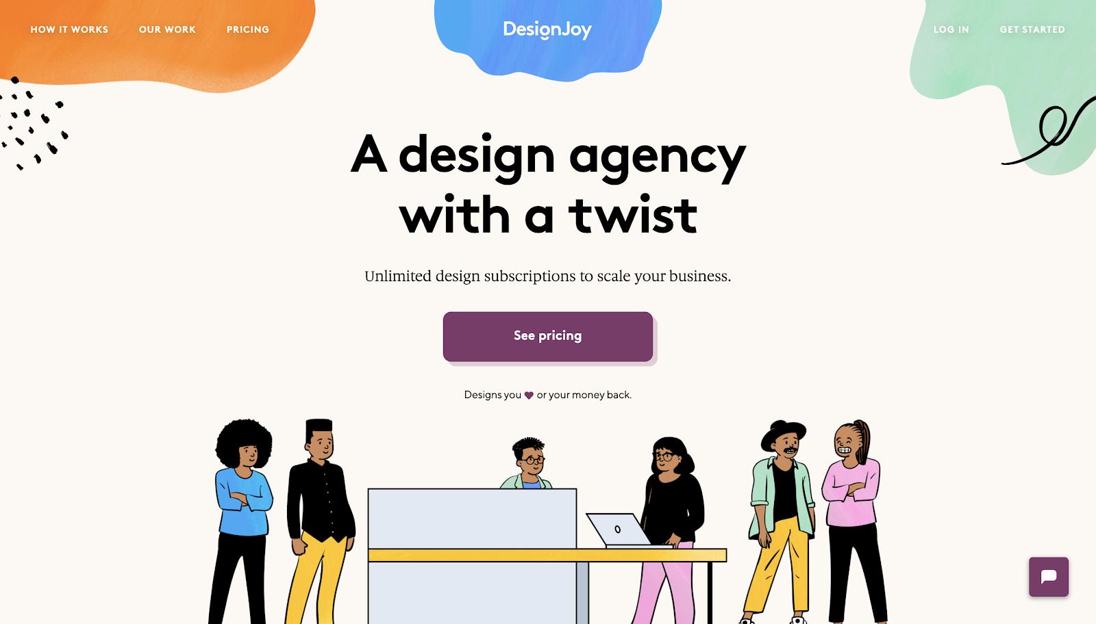 DesignJoy's website