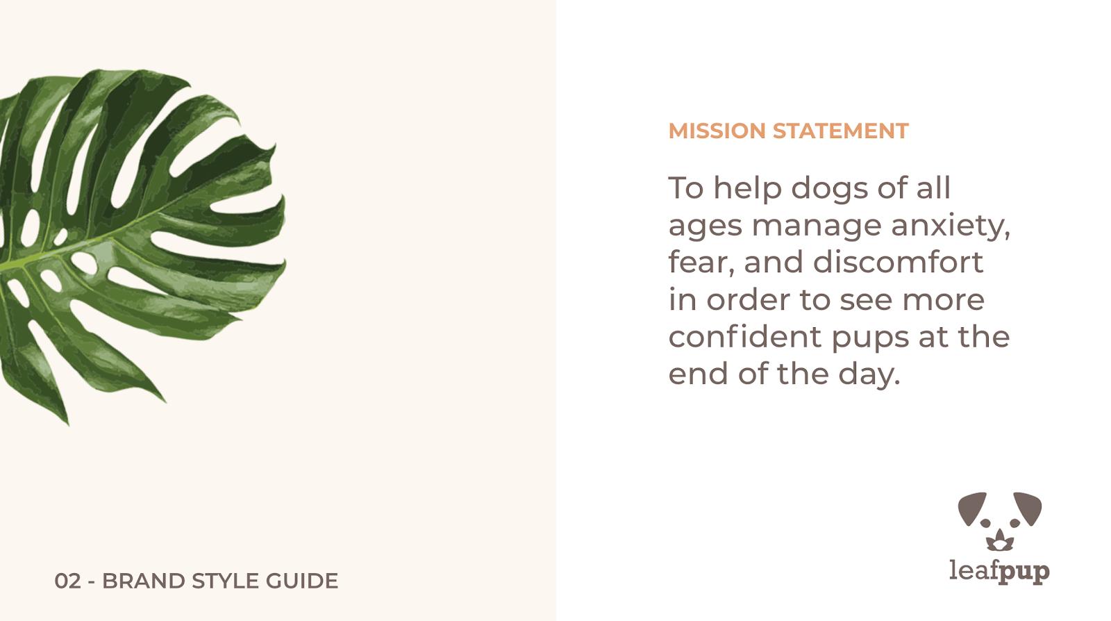 Leafpup's Mission Statement