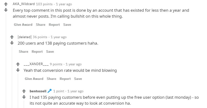 Reddit comments on Ben's newCo announcement