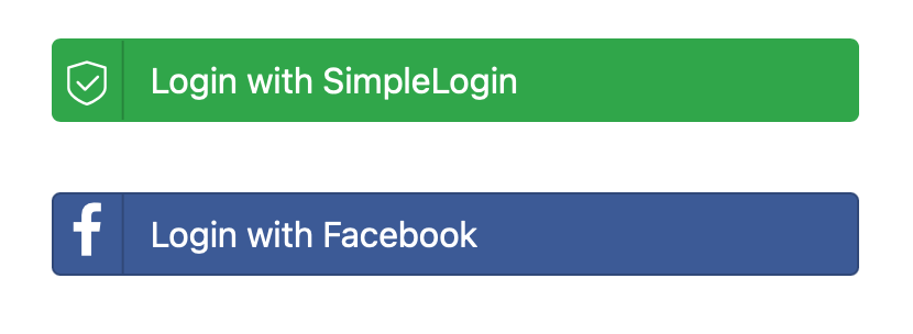 SimpleLogin's login button
