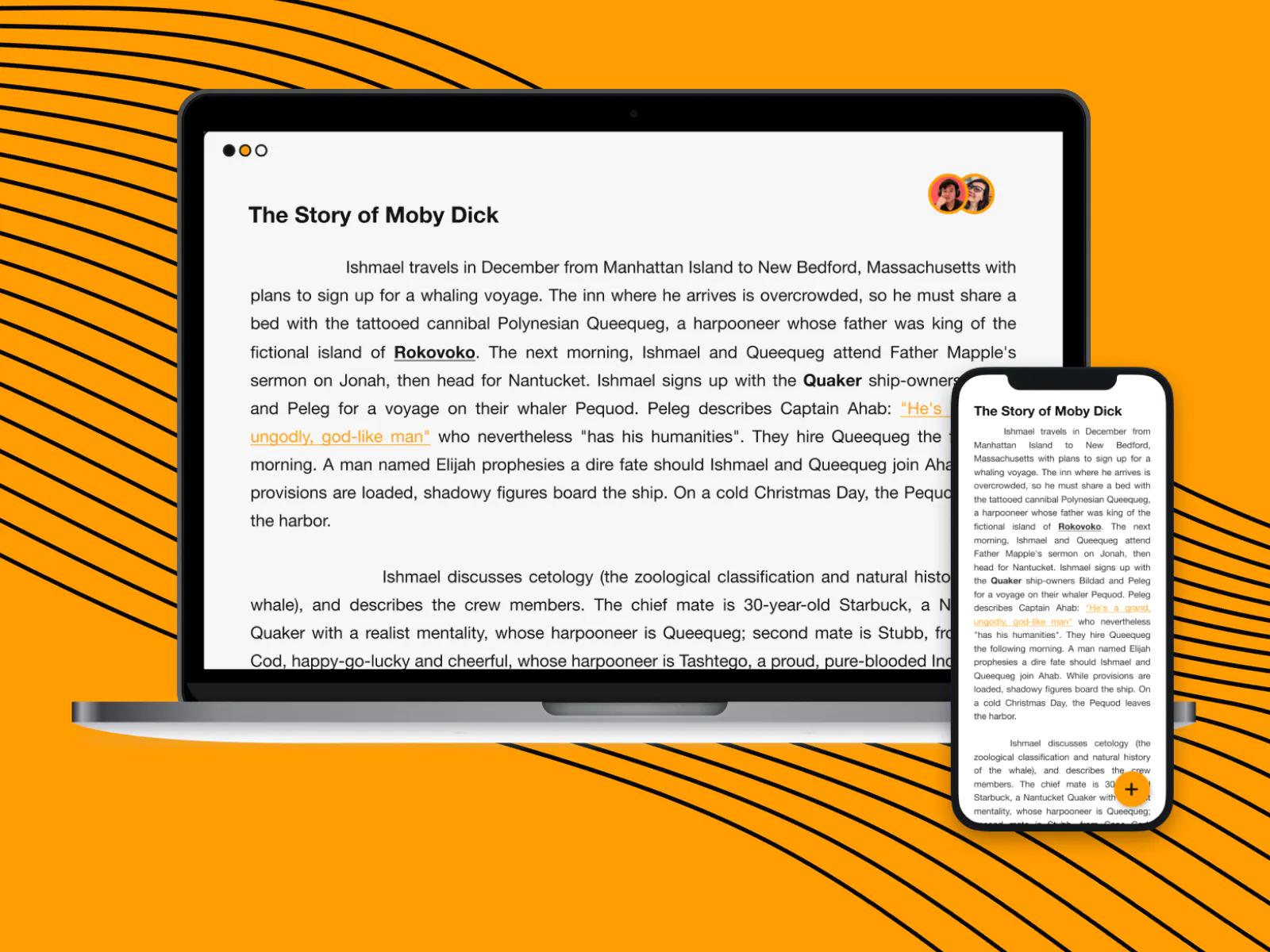 Graphite Docs' desktop and mobile