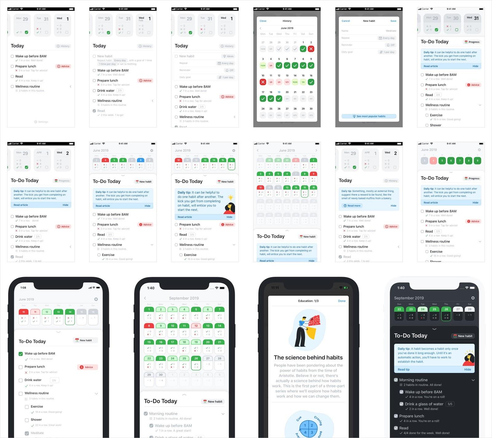 Habitual App Designs