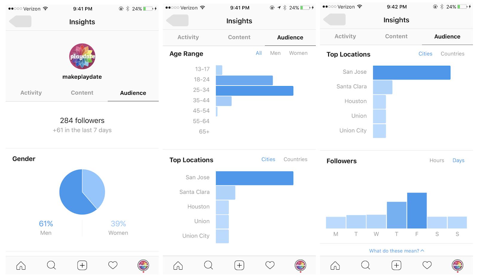 Playdate's IG Analytics