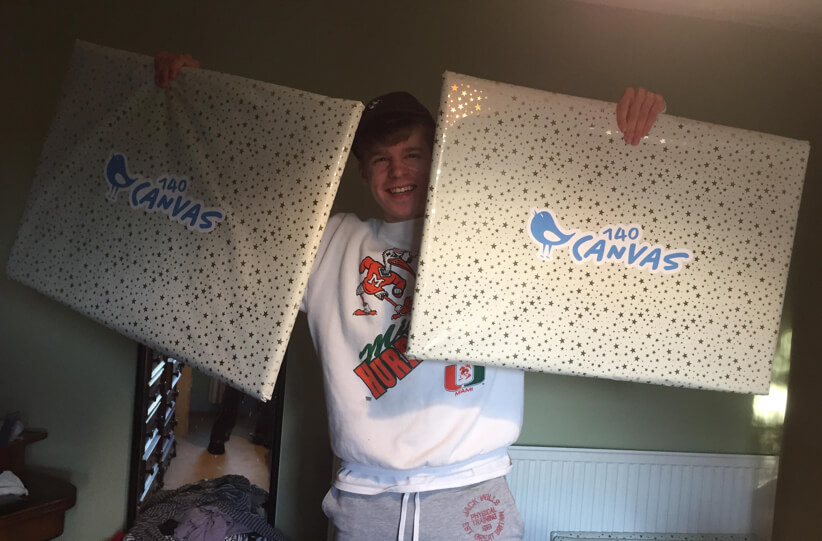 Harry with 2 140 Canvas