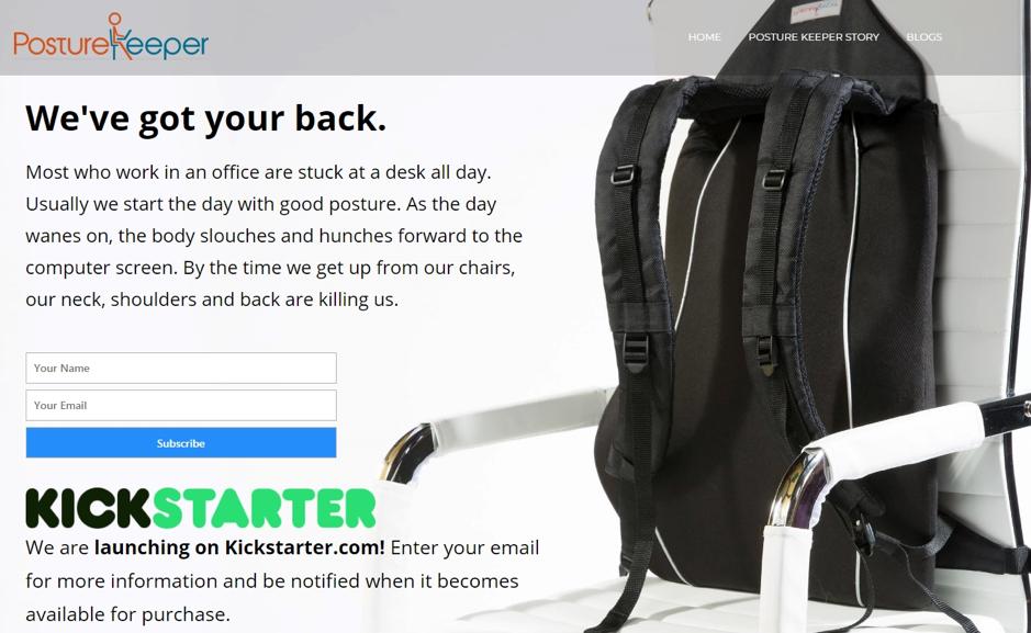 PostureKeeper Kickstarter