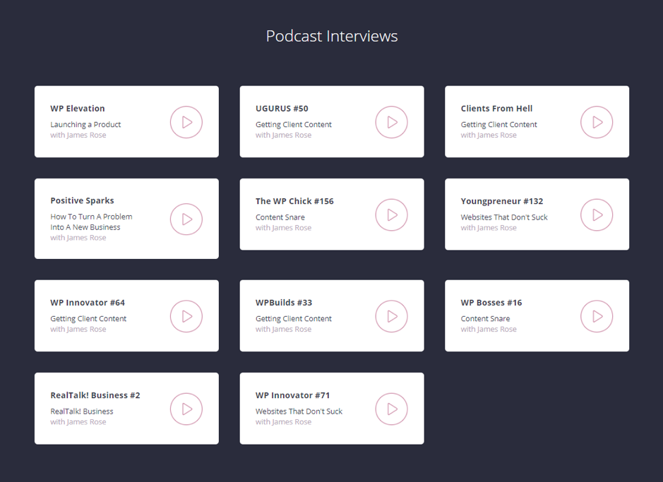 Content Snare Podcasts