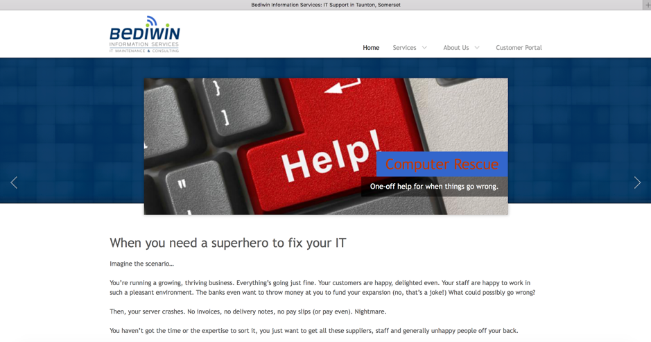 Bediwin Information Services Website