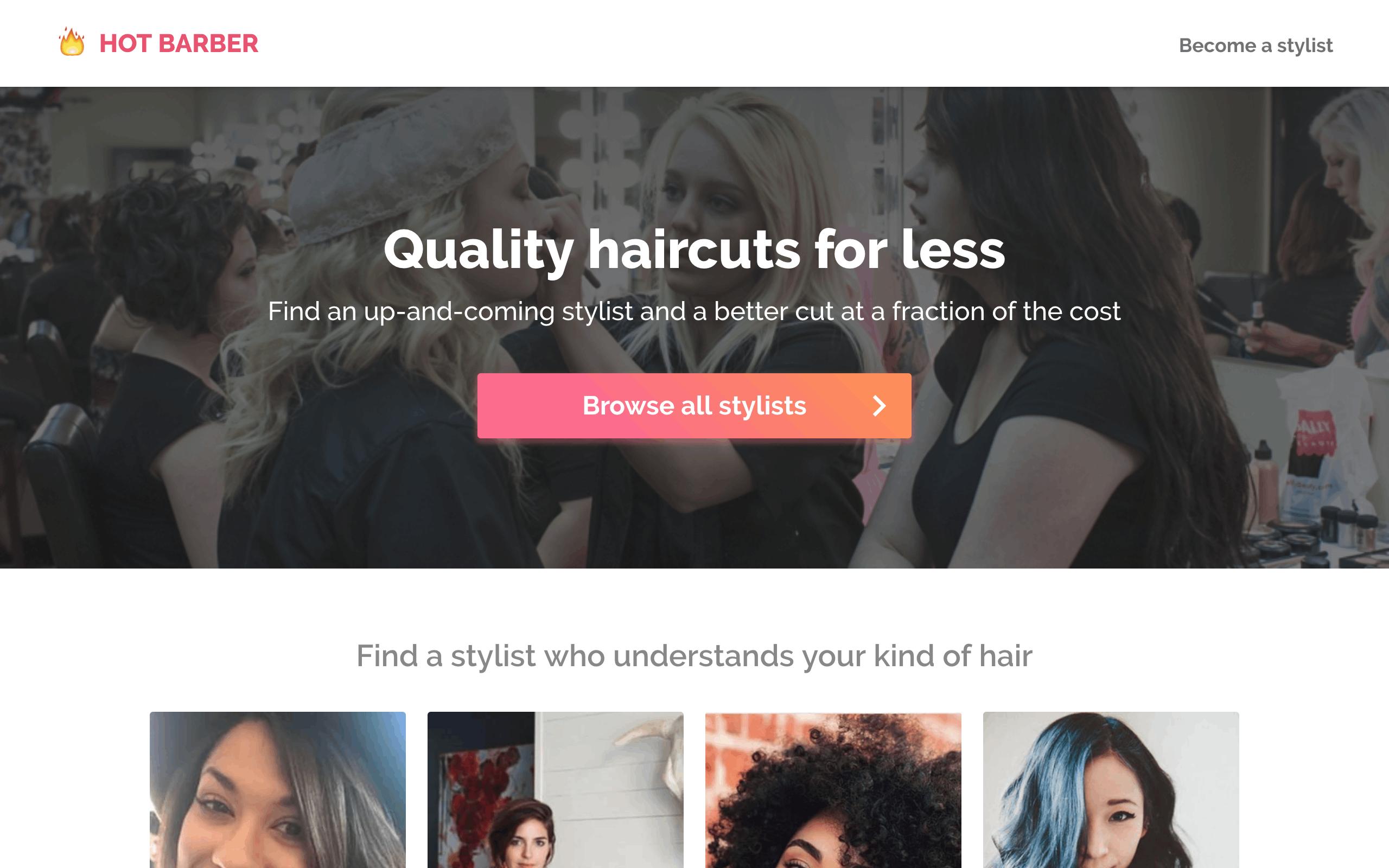 Hot Barber Website