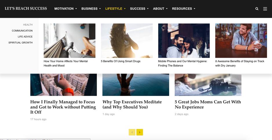 Website Let's Reach Success