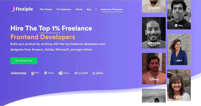 Flexiple Homepage