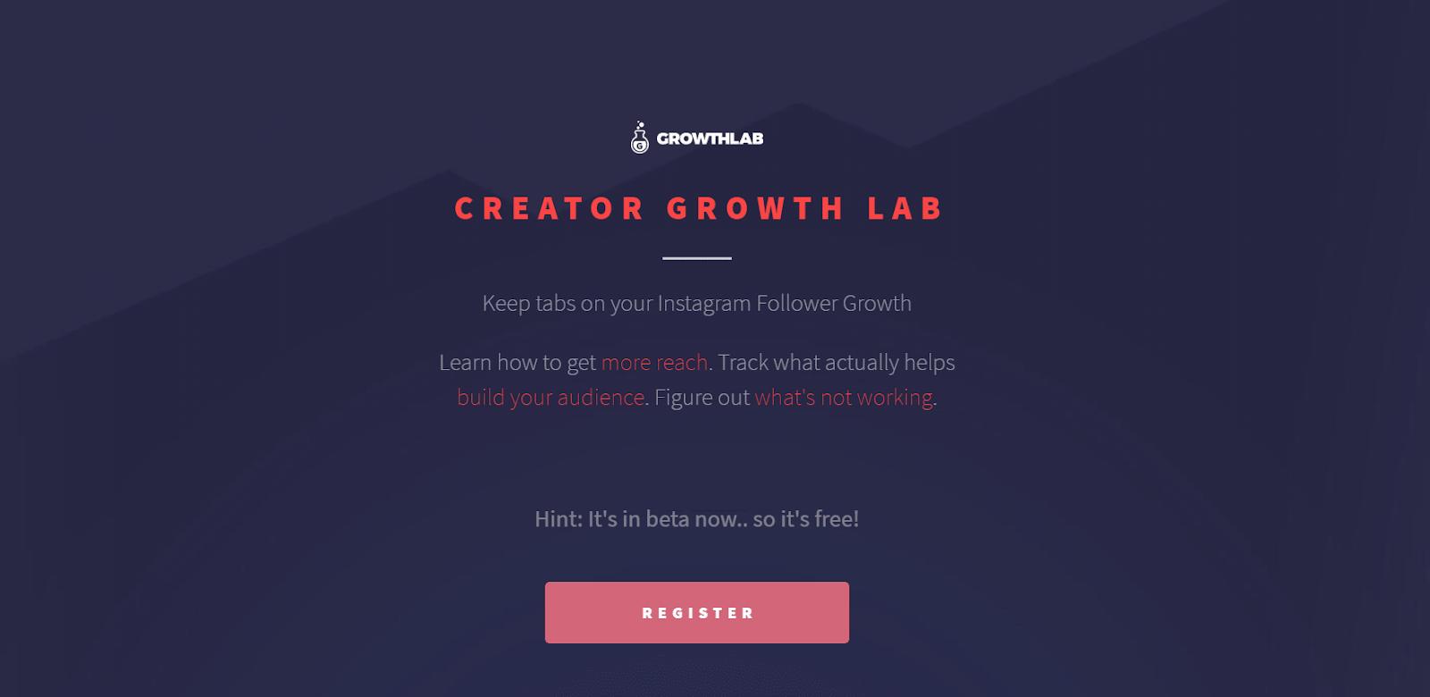 Creator Growth Lab Landing