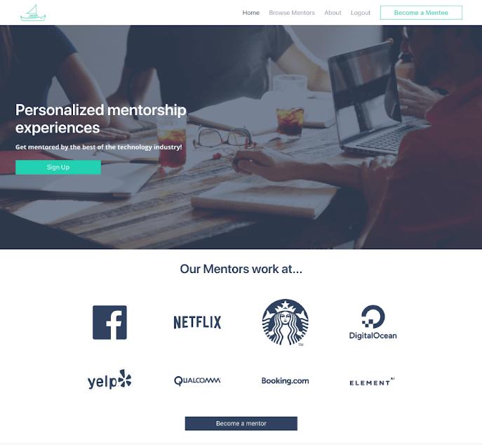 MentorCruise Landing Page v1